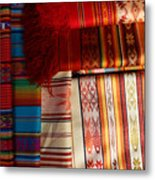Hand Woven Table Cloths Metal Print
