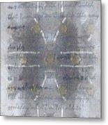 Handmade Paper Never Sent Metal Print