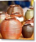 Handmade Pottery Metal Print
