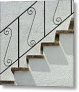 Handrail And Steps 1 Metal Print