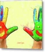 Hands In Art Metal Print