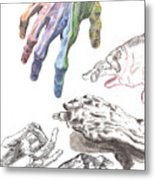 Hands Of The Masters Metal Print