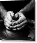 Hands That Form Metal Print