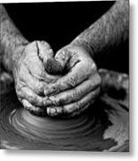 Hands That Shape Metal Print