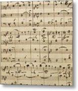 Handwritten Score Metal Print