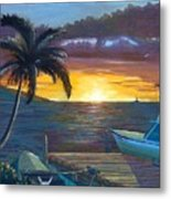 Hang Loose Harbor Metal Print