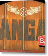 Hangar Bar Entrance Sign Metal Print