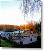Hangin' At Bethesda Fountain Metal Print