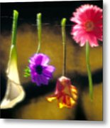 Hanging Flowers Metal Print