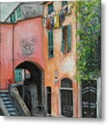 Hanging Out In Monterosso Al Mare Metal Print