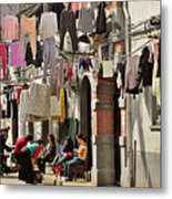 Hanging Out In The Streets Of Shanghai Metal Print by Christine Till