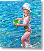 Hannah By The Sea Metal Print