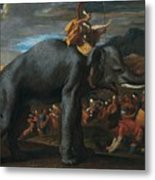 Hannibal Crossing The Alps On Elephants By Nicolas Poussin, 1625-1626. Metal Print