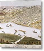 Hannibal, Missouri, 1869 Metal Print