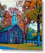 Hanover Church - Fall Metal Print