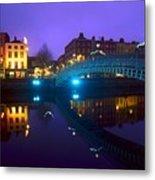 Hapenny Bridge, Dublin, Ireland Metal Print