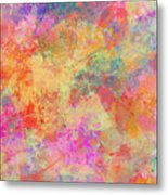 Happiness Abstract Painting Metal Print