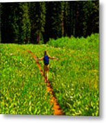 Happiness Is A Trail Metal Print