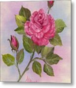 Happiness Rose Metal Print
