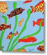 Happy Aquarium Metal Print