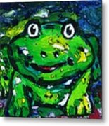 Happy As A Frog Metal Print