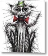 Happy Birthday Cat Metal Print