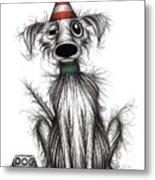 Happy Birthday Dog Metal Print