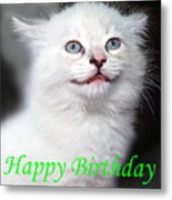 Happy Birthday Kitty Metal Print