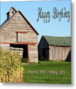 Happy Birthday Taurus Metal Print