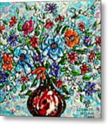 Happy Bouquet Metal Print