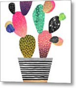 Happy Cactus Metal Print