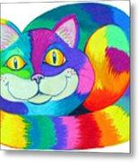 Happy Cat Metal Print