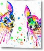 Happy Chihuahuas Metal Print