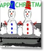 Happy Christmas 116 Metal Print