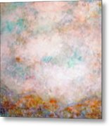 Happy Dancing Clouds Metal Print