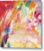 Happy Day- Abstract Art By Linda Woods Metal Print