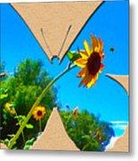 Happy Day Greeting Card Metal Print