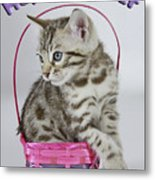 Happy Easter Card Metal Print