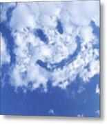 Happy Face Sky Metal Print