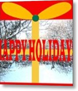 Happy Holidays 21 Metal Print
