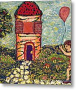 Happy In The Garden Metal Print