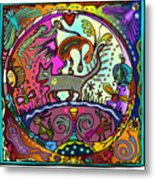 Happy Kitties Metal Print