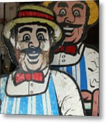 happy meat Makers Metal Print