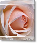 Happy Mother's Day Soft Rose Metal Print
