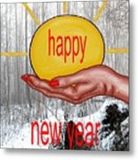 Happy New Year 22 Metal Print