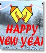 Happy New Year 24 Metal Print