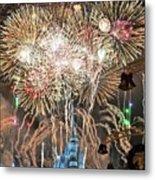 Happy New Year From Walt Disney World Metal Print