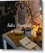 Happy New Year Holidays Metal Print