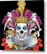 Happy New Year King Of Time Metal Print