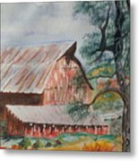 Happy New Year On The Farm  Metal Print